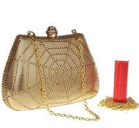 Brand New Lady Popular  PU Clutch Bag Women Cobwebs Beading Evening Bags Diamond Clutch Purse Dumplings stereotypes handbag 1313