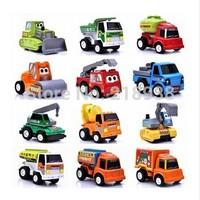 Drop Shipping 12pcs/lot Pull Back Car Toys For Baby ,Children Racing Car ,Kid's Cartoon truck Cars-PLEX