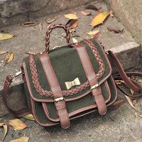 Super lover fashion preppy style messenger bag sweet bag vintage messenger bag
