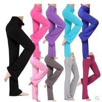 S-XXXL Plus Size Women Dance Cotton Harem Yoga Pants Sport Drawstring GYM Long Pants Trousers Straight Leg Casual Pants W00240