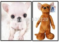 Free shipping Kawaii Big eye Puppy Chihuahua Dog plush toy 25cm Animal stuffed doll White/Black/Brown Dog Toys for Kids Baby