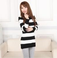 2013 autumn and winter sweater thickening basic sweater pullover dress female slim hip skirt long design sweater basic shirt