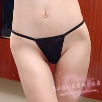 Plus size mm gauze sexy open-crotch pants thong t women's sexy panties