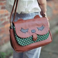 Super lover vintage owl messenger bag cat bag shoulder bag messenger bag multi-purpose bag