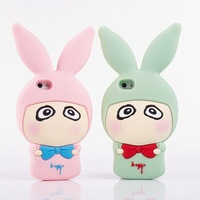Small a rabbit case cover for iphone 5 silicon gel sets for  for iphone 5s cartoon mobile phone case protective