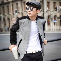 2014 New Tide Male Korean Men Denim Jacket Denim Jacket Denim Jacket Slim Casual Men Shirt Color Black Size M L XL XXL
