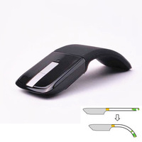 New 2.4GHz Arc Touch Wireless Mouse Slim Foldable Flat Mouse Ultrathin Computer folding Mice Microsoft Touch Mouse Free Shipping