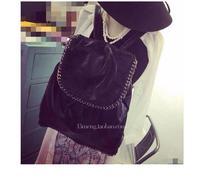 New 2014 England Women Backpacks Designer Brand Chain Women's PU Leather Black/White Simple Desigual Backpack