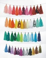 1440pcs/lot  46 colors Design your own Tissue Tassel Garland Tea Party Decorations, Tassel Garlands