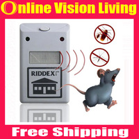 Free shipping 2015 New Arrival Hot Sales Ultrasonic Electronic Anti Mosquito Mouse Insect Cockroach Pest Repeller Reject A0517