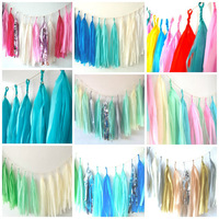 46 colors Tissue Tassel Garland - Birthday Banner // Wedding Decoration // Nursery Decor