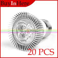 3W E27 High Power Energy Saving LED Lamp 85-260V 3x1W Cool/Warm White Light Down Spotlight Spot Bulb 110v 220v