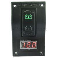 Red LED Waterproof Marine/RV/Caravan/Car Dual Voltmeter/Battery Tester-Breaker