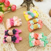 20pcs/Lot Kids/Girl/Princess/Baby Hair Clip Children Hair Accessories Ribbon Bow Flower Hairpins for Hair Bows Barrettes