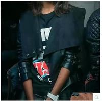 New 2014 Autumn Women's High-end custom Ms. Slim leather jacket women short PU Jacket Girls Coat  free shipping