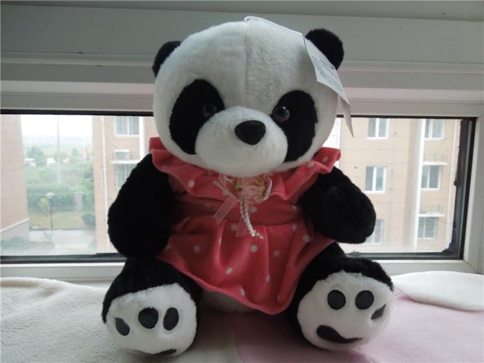 Free shipping sitting size 30cm skirt panda plush toy panda soft stuffed doll Christmas gift kids gift(China (Mainland))