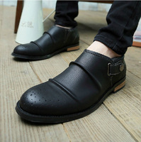 New British Style Men's Pointed-end Carving Breathable Leather Slip On Oxfords Shoes Free Shipping LSM155