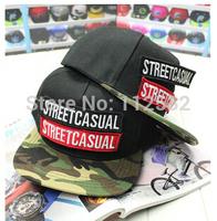Korean version of the new STREETCACUAL letter Velcro flat along  baseball cap for men and women,couple hip hop caps.sun visor