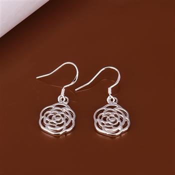 Newfree 925 серебро ювелирные изделия серьги 925 серебро серьги E425