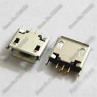50pcs free shipping  5P female micro USB socket  usb jack Connector