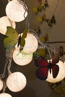 Funlife 6cm Each x 20pcs Classic Popular Cream Cotton Ball Night String Lights Thailand Lantern Decoration for Christmas N1078CR