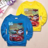 1pcs New 2014 boys t shirt T shirt sleeve Summer  Autumn Leisure Boys Sets suit Children' clothing Car Printed Fashion Kids Set