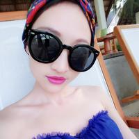 Free shipping Circle trend 2014 sunglasses female sunglasses star style large anti-uv sunglasses