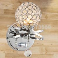 kingart Modern brief fashion crystal wall lamp bed-lighting rustic bedside wall lamp