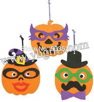 27PCS/LOT,DIY foam pumpkin character ornament craft kit,Halloween toys,Halloween crafts,Early educational toy.Halloween gifts.
