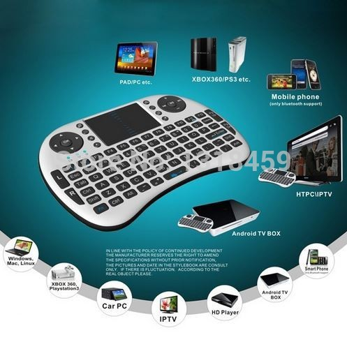 Android Remote USB / TV / PC wireless trackpad and keyboard Remote control with full QWERTY keyboard(China (Mainland))