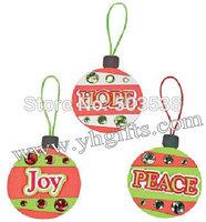 48PCS/LOT.Peach,Hope and Joy foam ornament craft kit,Christmas toys,Christmas crafts,Early educational toy.X'mas tree hanger.