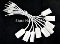 5pcs Headphone earphone splitter audio cable 3.5mm double jack for iPod iPhone 4 4S iPad2