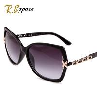 2014 Free shipping women's fashion sun glasses female big box charm interweave metal sunglasses