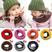 Free shipping 1piece Winter Collar Neck  Children's kids Scarf Ring, Warmer Muffler Baby Girls/Boy Knitted O-Scarf