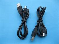 USB 4Pin Male to Mini USB 5 pin Male Cable 80cm 0.8m Long Black Color 40 pcs per lot HOT Sale High Quality