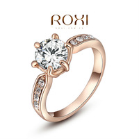 ROXI  Wholesale fashion Rose Gold Plated Austrian crystal Ring ,new arrival factory prices RO74