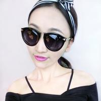 Freeshipping 2014 trend fashion vintage sunglasses female fashion sunglasses big circular frame sun glasses