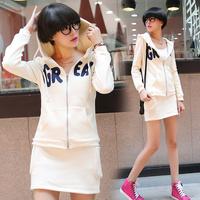 Tz381 2014 sports set female sweatshirt casual short skirt set female