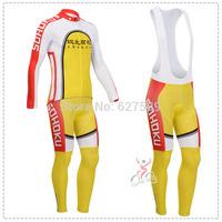 cyclingbox 2014 Thermal Fleece Cycling Jersey bib kit long Sleeve bib pants ropa Ciclismo bicycle Cycling thight fitness clothes