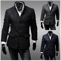 New Arrival 2014 Man Jacket Winter Sobretudo Masculino Preto Longo Discount Pea Coats Men Casacos Longos Masculinos Jacket Men