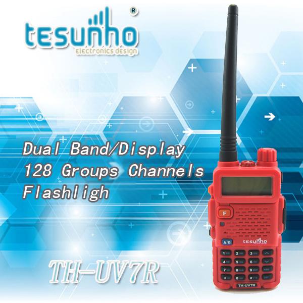 TESUNHO TH-UV7R handheld amateur 7w dual band multi channels 2 way radio(China (Mainland))