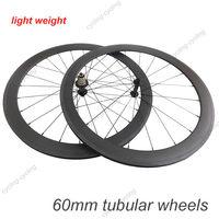 Super light wheel Powerway R13 Hub 60mm tubular bicycle wheels 700c Carbon fiber road bike Racing wheelset