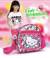 10pcs/lot 2014 New Arrive Leisure Bag Hello kitty Messenger Bags Cartoon Satchel For Girls Wholesale Shoulder Bag Cute Schoolbag