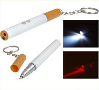 5216  No tracking number 3 in1 Cigarette Shaped LED Flashlight, Laser Pointer & Ballpoint Pen