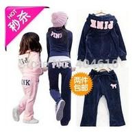 Retail!  hot sale  Children Spring & Autumn casual suit long sleeve jacket hoodies plus trousers long pants 2 pcs sets ELZ-T0118