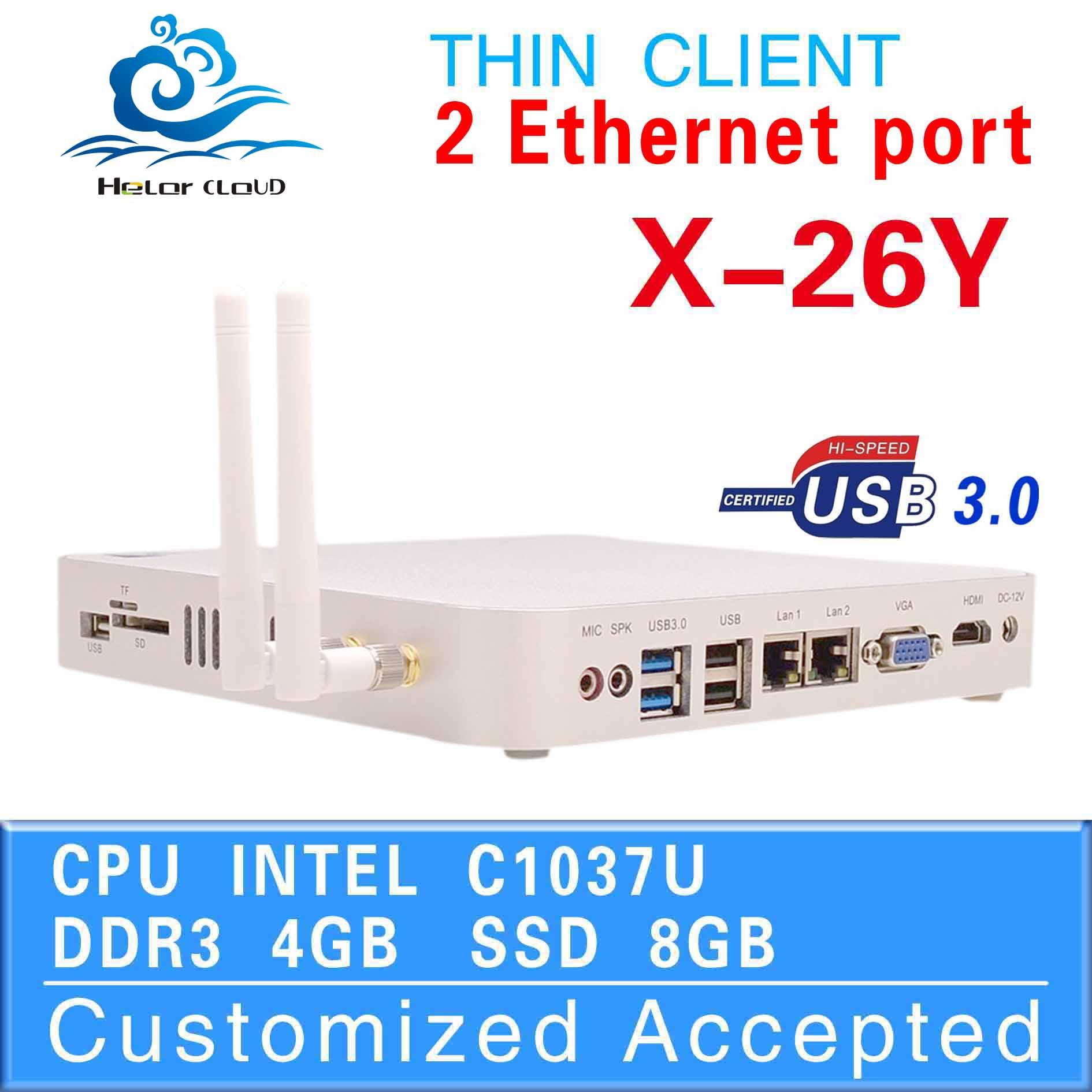 itx mini pc mini server pc games for windows dual lan port C1037U 1.8GHZ 4G RAM 8G SSD 4*USB Video Resolution:1920*1080(China (Mainland))