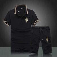 2014 summer man sports set luxury brand high quality men's tracksuit free shipping new men sportswear fashion mens sport suit