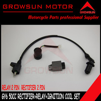 Scooter Ignition Coil+Flasher+Voltage Regulator Chinese Scooter Parts for GY6 50cc QMB139 Scooter SUNL, Roketa,Taotao,ATV Motors