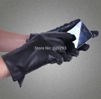 Men simple light board side opening Genuine Leather Gloves Warm Winter Gloves