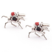 High Quality Newest Brass China Sleeve Reliable Party Horse Cufflinks Cuff Links With Exquisite Box
